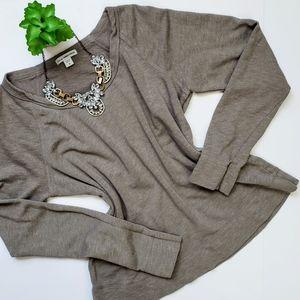James Perse Raglan Pullover Sweatshirt Taupe